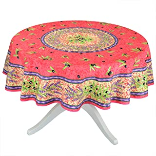 Matisse Red French Provencal Stain Resistant Tablecloth - 70