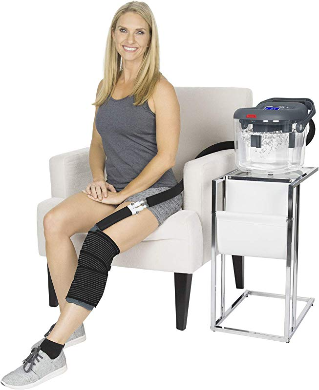 Vive Cold Therapy Machine Large Ice Cryo Cuff Flexible Cryotherapy Freeze Kit System Fits Knee Shoulder Ankle Cervical Back Leg Hip And ACL Wearable Adjustable Wrap Pad Cooler Pump