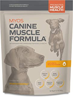MYOS Canine Muscle Formula - Clinically Proven All-Natural Muscle Building Supplement - Reduce Muscle Loss in Aging Dogs and Improve Recovery from Injury or Surgery