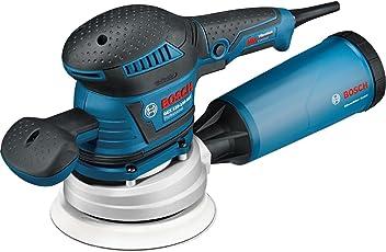 Bosch Professional GEX 125-150 AVE - Lijadora excéntrica (400 W, Microfiltro, platos lijadores 125/150mm, en L-BOXX)