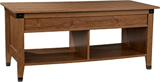 Rockpoint Argus Lift-Top Wood Coffee Table, Chestnut Brown