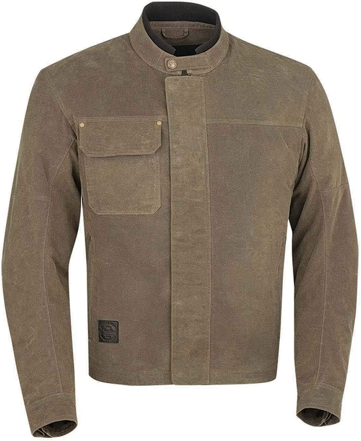 Indian Motorcycle Men's Waxed Cotton Riding Jacket, Olive