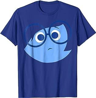 Disney Pixar Inside Out Sad Face Halloween Graphic T-Shirt