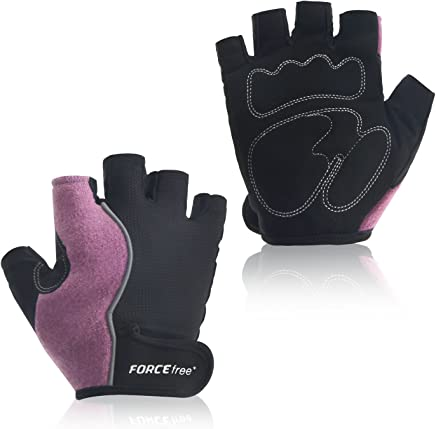 Forcefree+ Workout Gloves for Cycling, Weight Lifting, Training, Exercise, Gym Fitness Half Finger Gloves for Men & Women