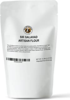 5 LB King Arthur Sir Galahad Hi-Gluten Flour - Never Bleached Never Bromated - Resealable Stand Up Pouch …