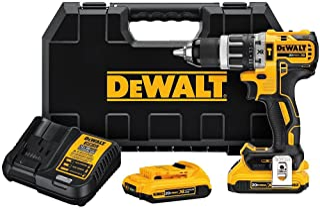 DEWALT 20V MAX XR Compact Hammer Drill Kit, 1/2-Inch, 2.0-Amp Hour (DCD796D2)