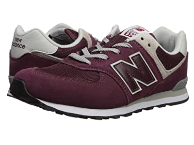 New Balance Kids GC574v1 (Big Kid) (Burgundy/Grey) Boys Shoes