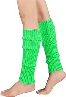 Ladies Luxury Quality Leg Warmers 80/'s Dance Gym Gear Plain Army Ribbed Yoga