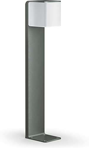 Lampadaire Steinel GL 80 LED iHF Cubo anthracite, lampe de jardin LED, détecteur de mouvement 160°, connectable au ré...