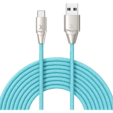 Premium Nylon Braided Charger Cord for Samsung Galaxy Note 8//9 S9//S9 Plus G5//G6//G7 LG V20//V30 Xcentz USB Type C Cable 6ft Blue S8//S8 Plus USB C to USB 3.0 Fast Charging Cable Pixel XL /& More