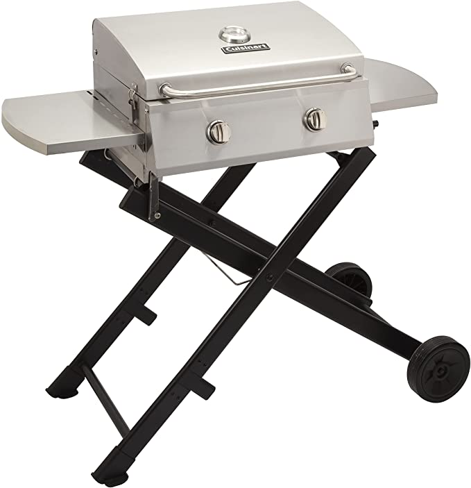Cuisinart Two-Burner tabletop Gas Grill – The 2 Burner Gas Grill with a Twist-Start Automatic Ignition System