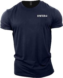 GYMTIER Gym Clothes for Men - Gym T-Shirt Bodybuilding Workout T Shirt Training Top MMA Men's Active Wear