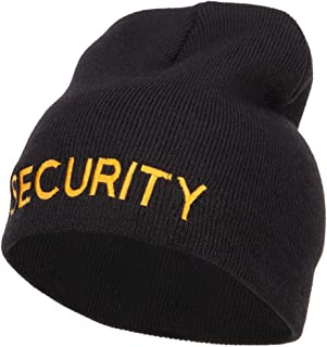e4Hats.com Security Embroidered Short Beanie