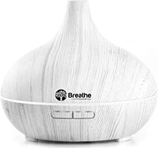 (2. White Marble) - Breathe Essential Oil Diffuser 550ml Diffusers for Essential Oils with Cleaning Kit & Measuring Cup 16...