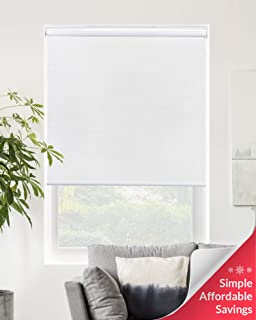 Chicology Cordless Roller Shades Snap-N'-Glide, Blackout Window Treatments Perfect for Living Room/Bedroom/Nursery/Office and More.Byssus White (Room Darkening), 23