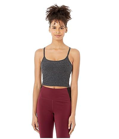 Beyond Yoga Spacedye Slim Racerback Cropped Tank Top (Black/Charcoal) Women