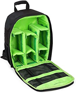 Waterproof DSLR Camera Bag Shockproof Backpack Hiking Bag-Green