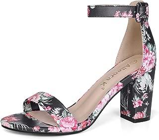 Best black floral print heels Reviews