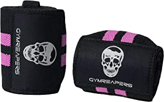 """Gymreapers Weightlifting Wrist Wraps (Competition Grade) 18"""" Professional Quality Wrist Support with Heavy Duty Thumb Loop..."""