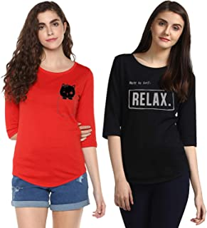 YOUNG TRENDZ Women's T-Shirt (Pack of 2)