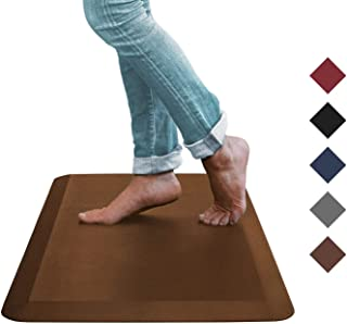 Oasis Kitchen Mat, Comfort Anti Fatigue Mat, 5 Colors and 3 Sizes, Perfect for Kitchens and Standing Desks, 20x39x3/4-Inch, Brown