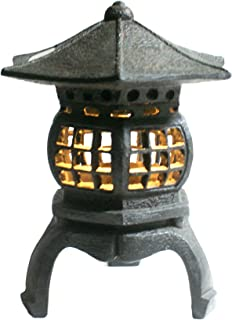 """TIAAN 12"""" height Japanese lantern Solar garden lamp Solar pagoda light"""