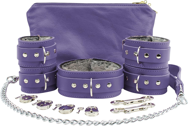 Atlas Set Ankle Wrist Free Max 89% OFF Shipping Cheap Bargain Gift Cuffs Collar Chain Lamb Leash Fur Lockable