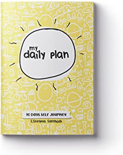 DOODLE MONK's My Daily Plan-Undated Paperback 90 Days A5- Habit tracker / Affirmation / Gratitude Journal / Stress Buster...