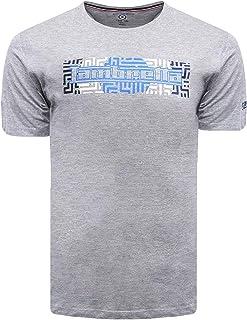 Lambretta Mens Geo Logo Cotton Casual Short Sleeve Crew Neck Tee T-Shirt Top