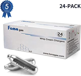 FOMA GAS Whip Cream Chargers, 24 Pack