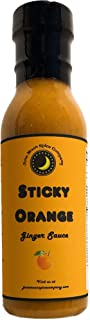 Premium | STICKY ORANGE Ginger Sauce | Crafted in Small Batches with Farm Fresh Herbs for Premium Flavor and Zest