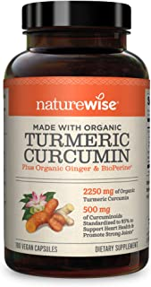 NatureWise Curcumin Turmeric 2250mg (2 Month Supply) 95 Curcuminoids with BioPerine Black Pepper Extract Advanced Absorpti...