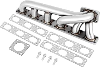 Bestauto Fit For BMW E36 E46 325i 328i 330i M3 2.5L 2.8L 3L Engine Stainless Steel Turbo Manifold Header M50 M52