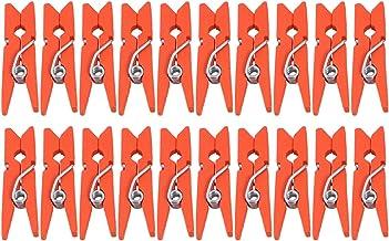 Artibetter 300 Stks Mini Houten Wasknijpers Muur Opknoping Fotoclips Foto Haringen Craft Clips Houten Wasknijpers Oranje