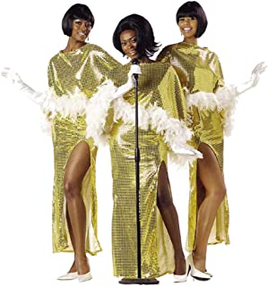 FunFill R&B Diva Costume Size: Women's X-Large 12-14 Gold