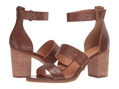 FRYE AND CO. Bryn Stitch Sandal (Tobacco Soft Oily Leather) High Heels