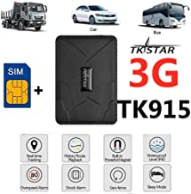 TKSTAR 3G GPS Tracker for Vehicles,(Free SIM)Strong Magnet Real Time Car GPS Tracker Anti Theft Alarm Tracking Device for Motorcycle Trucks Support Android and iOS (915 3G)