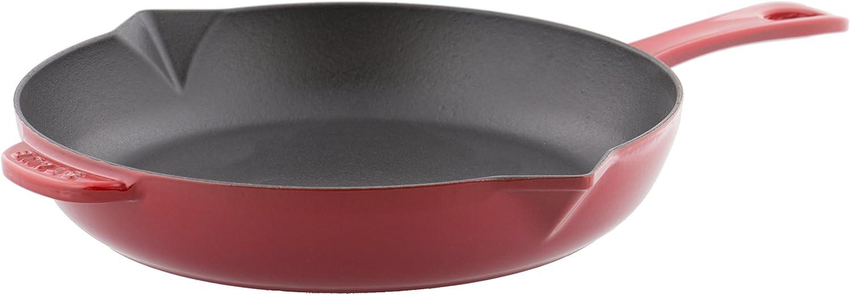 Staub 40510-617-0 Poêle en Fonte Mat 26 cm, Noir Cerise