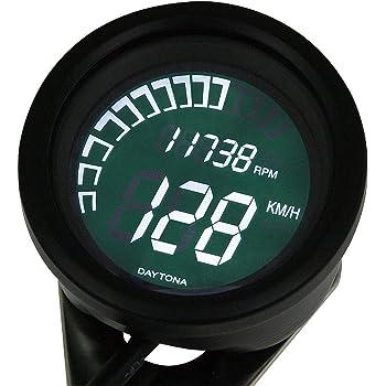 デイトナ バイク用 デジタルスピード&タコメーター(電気式) 表示範囲0-399km/h & 0-20,000rpm デジタルVELONA 79716