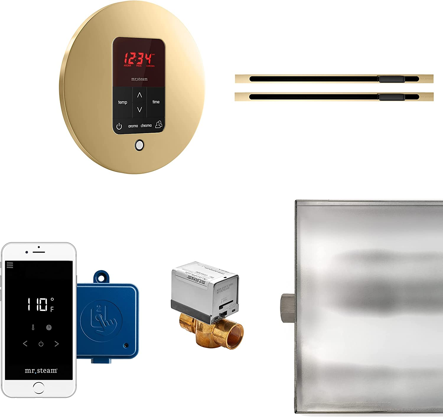 MrSteam Butler Max Linear Package Round Control All items free shipping Polished Brass sale