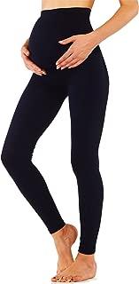 KHAYA Women's Maternity Underwear Tight Over Bump Legging Skinny Pant Black