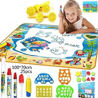 Doodle Mat, Large Aqua Magic Water Drawing Mat Toy Kids Painting Writing Pad Educational Learning Toys