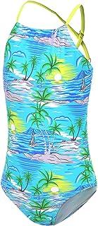 Girls One Piece Swimsuits Unicorn Ruffle Bathing Adjustable Strap Swimwear 2-14 Years