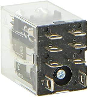 Omron LY2-AC24 General Purpose Relay, Standard Type, Plug-In/Solder Terminal, Standard Bracket Mounting, Single Contact, Double Pole Double Throw Contacts, 53.8 mA at 50 Hz and 46 mA at 60 Hz Rated Load Current, 24 VAC Rated Load Voltage