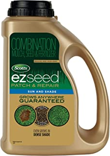 Scotts EZ Seed Patch and Repair Sun and Shade, 3.75 lb. - Combination Mulch, Seed and Fertilizer - Tackifier Reduces Seed Wash-Away - Covers up to 85 sq. ft.