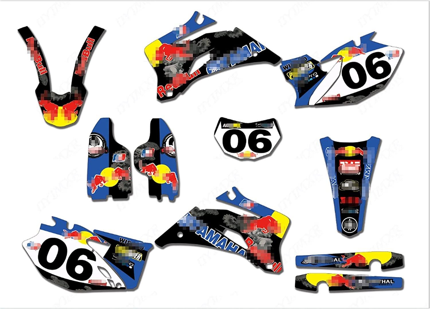 YHYPRESTER XYTZ85-22 4 years warranty Customized 3M Stickers Dealing full price reduction Motorcycle Decals Gr