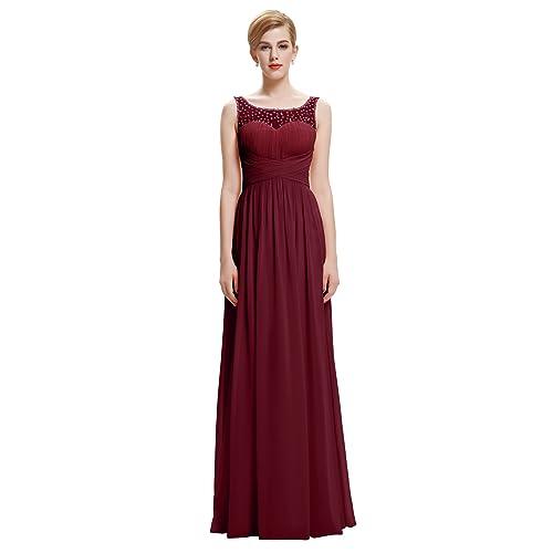 86447cb96 Belle Poque® Vestido Largo de Fiesta para Boda Vestido de Gala sin Mangas  de Ceremonia
