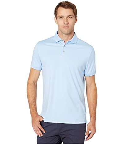 Calvin Klein Short Sleeve Polo (Blue Cantrel) Men