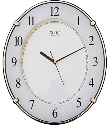 Ajanta Simple Clock 707 White