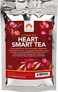 Shifa Turmeric Heart Smart Tea with Herbs, Phytonutrients, and Antioxidants (1.5 oz)